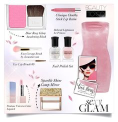 """Set and Go 💋"" by zafiaida ❤ liked on Polyvore featuring beauty, Sephora Collection, Christian Dior, Deborah Lippmann, lilah b., Clinique and Boohoo"