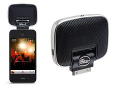 Blue Microphones, Mikey Digital, $100  With this little puppy you can record high-fidelty sound straight from your iPhone. Perfect for inspired musicians and mobile journalists.