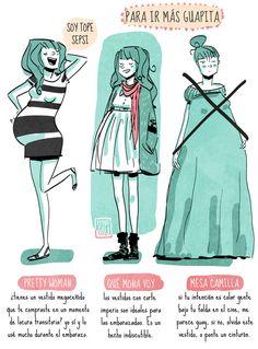 Consejos e ideas para ser una embarazada con estilo:  http://www.stylesyoulove.es/guia/ropa-de-premama-guia-embarazada-con-estilo
