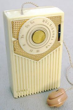 Transistor Radio With Earplug - AM channels only and a lot of static!
