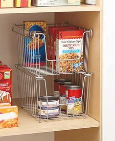 Efficiently organize your space with the Set of 2 Wire Stacking Baskets. These convenient baskets hold craft and office supplies, bath items, food and more. Sta