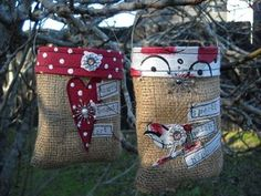 Journaled Burlap Bags - Love these bags!!