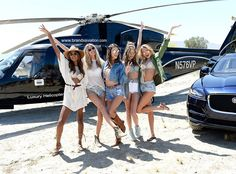 Jasmine Tookes, Martha Hunt, Alessandra Ambrosio, Josephine Skriver & Romee Strijd from The Big Picture: Today's Hot Photos  The Victoria's Secret Angelsstrike a pose atThe Sexy Little Things launch duringCoachella.