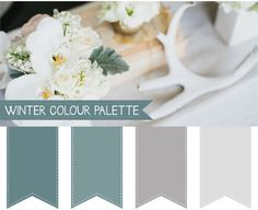 Winter Wedding Colour Palettes