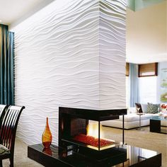 Custom Fireplace - modern - dining room - san diego - Robeson Design
