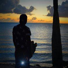 Sunrise to sunset we live on #sunset #led #beach #onetown #onetownboards #longboarding #longboard #southbeach #light