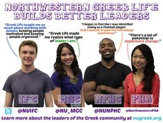 Follow along on FB and at nugreek.org for weekly profiles on the leaders of the NU Greek community! #BuildingBetterLeaders