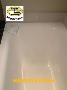 BEFORE & AFTER PHOTOS OF A HOTEL BATH - HAIR DYE STAIN - WE POLISHED IT OUT - LOOKS BRAND NEW!!! Before After Photo, Hair Dye, Bathtub, Polish, Photos, Standing Bath, Dye Hair, Bathtubs, Vitreous Enamel