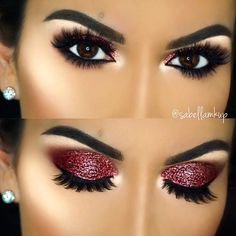 Eyebrow master, seamless blending, and excellent use of glitter /follow my Pinterest at: Saraiexquisite