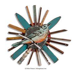 Dolan Geiman | Wood Bird Art Backyard Summertime Wall Decor   renegadecraft.com/chicago-summer-home