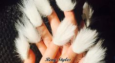 Latest nail trends the furry nails have taken the nails art to a whole new level. Not so many years have passed since women started experimenting new trend. Nail Art Design 2017, Nail Design Spring, Winter Nail Designs, Simple Nail Designs, Nail Art Designs, Nails Design, Stylish Nails, Trendy Nails, Nailart