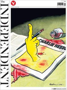 Worst terror attack in France in recent memory Paris, Jan. Deadly terror attack that killed at least a dozen people in the heart of Paris, including some 10 journalists working for the satirical newspaper Charlie Hebdo. The World Newspaper, Newspaper Front Pages, Newspaper Cover, Newspaper Design, Satire, Caricatures, Attentat Paris, World Pay, Charlie Hebdo