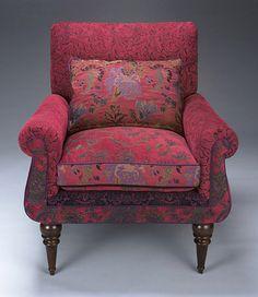 Shelburne Chair: Mary Lynn O'Shea: Upholstered Chair & Pillow - Artful Home