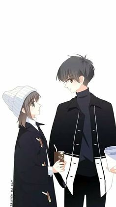 A romantic love story ❤ Anime Cupples, Anime Chibi, Anime Guys, Anime Love Story, Manga Love, Anime Couples Drawings, Anime Couples Manga, Manga Couple, Anime Love Couple