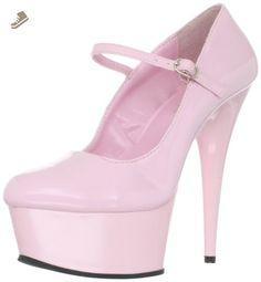 Pleaser Women's Delight-687/BP/M Platform Pump,Baby Pink,10 M US - Pleaser pumps for women (*Amazon Partner-Link)