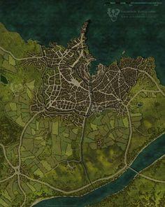 RPG - Cartes et plans favourites by SigmaCore on DeviantArt Fantasy City Map, Fantasy World, Dungeons And Dragons, Rpg Pathfinder, Plan Ville, Village Map, Imaginary Maps, Rpg Map, Adventure Map