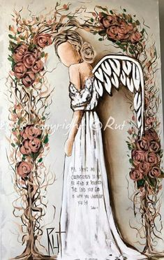 Shaking in my roots 💖 Angel Artwork, Angel Paintings, Angel Drawing, Angel Pictures, Christmas Angels, Canvas Art Prints, Painting & Drawing, Folk Art, Fantasy Art