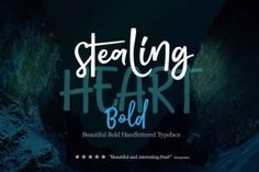 http://Stealing Heart Bold is a modern calligraphy-style typeface.