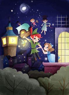 Peter Pan by Gaby Zermeño, via Behance