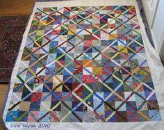 Pinwheel Pines: Woodsy Fun-to- Piece Scrap Quilt Pattern