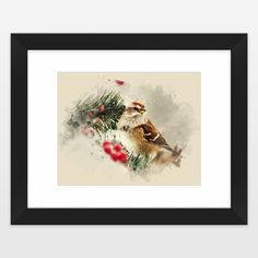 Shop for unique nursery art like the Sparrow Watercolor Art Art Print by ChristinaRollo on BoomBoomPrints today!  Customize colors, style and design to make the artwork in your baby's room their own!