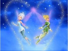 Tinker Bell and Periwinkle's sparkling wings of their sisterly fairy love Tinkerbell And Friends, Tinkerbell Fairies, Disney Fairies, Disney And Dreamworks, Disney Pixar, Manga Anime, Tinker Bell Tattoo, Pixie Hollow, Sisters Forever