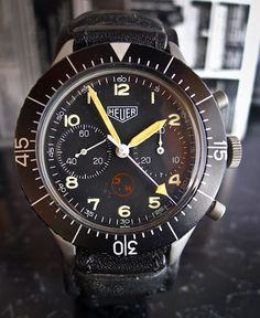#Heuer Bund Chronograph issued to German Army