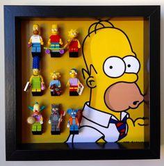 Lego Simpsons series minifigures Frame. Display Case for Lego Simpsons Minifigure, holds Minifig **Exclusive**
