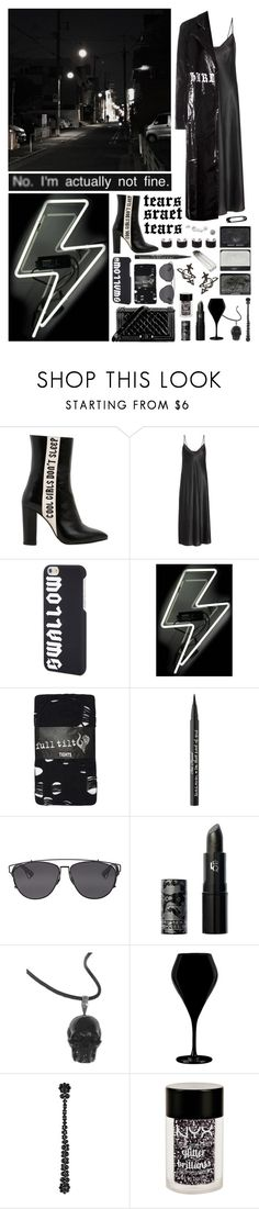 """""""I need you but not your opinion"""" by nothingisnormal ❤ liked on Polyvore featuring Havva, E L L E R Y, McQ by Alexander McQueen, Oliver Gal Artist Co., Full Tilt, Chanel, Too Faced Cosmetics, Christian Dior, Lipstick Queen and NOVICA"""