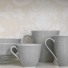 """Rörstrand's Swedish Grace - colour """"Äng"""" Porcelain Ceramics, Cutlery, Sweet Home, Table Settings, Cups, China, Plates, Dining, Heart"""