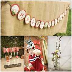 Girl's Birthday Party Inspiration: Little Red Riding Hood/Forest Friends Theme.  Happy Birthday Banner, Big Bad Wolf, Cake Pops. Mask,  #birthday #party #girls