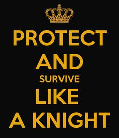 PROTECT AND SURVIVE LIKE  A KNIGHT