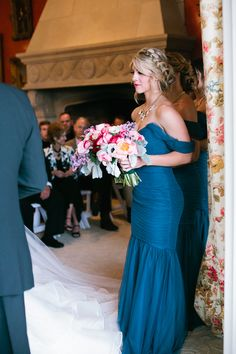 off-the-shoulder bridesmaid dress, photo by Kristen Soileau Portraits http://ruffledblog.com/pagosa-springs-wedding #bridesmaiddress #weddings