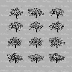 Family Tree Bundle SVG DXF EPS, family tree file, family tree design, tree svg, family tree, cutting files for cricut silhouette, svg file by JenDzines on Etsy