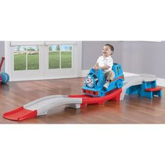 Step2 Thomas the Train Up & Down Roller Coaster Ride-On - Walmart.com