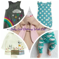 Two days past my due date, I'm passing time by creating my baby girl clothing wish list. Take a look and let me know your favourites!