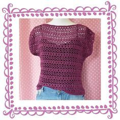 Tadaaah!! Newest pattern!! Nieuw patroon van een gehaakt zomers truitjehellip