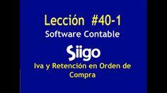 552. Lección # 40-1 Iva y Retefuente en Orden de Compra  _ Software Cont...