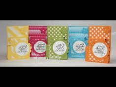Double Pocket Card - Stampin Up Simply Scored - YouTube