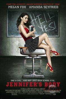 Jennifer's Body (2009) USA 20th Century Fox Horror Amanda Seyfried, Megan Fox, Adam Brody, J.K. Simmons. (4/10) 04/06/14