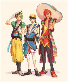 Disney - Jose, Donald and Panchito