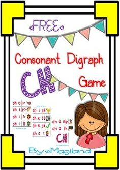 I decided to create this game in order to learn CH words  in a funny way. You will find a set of  10 ch words.  In this game the learners build 1o ch-words using the picture and the different sounds of the alphabet. Print the three pages on card, laminate if possible and cut on the dotted lines.
