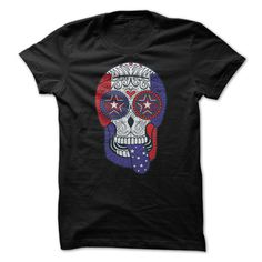American Flag Patriotic Sugar Skull T-Shirts, Hoodies. ADD TO CART ==►…