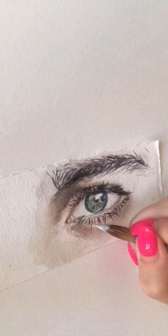 Watercolor Portrait Tutorial, Watercolor Portrait Painting, Watercolor Art Face, Watercolor Art Lessons, Watercolor Painting Techniques, Eye Painting, Art Drawings Sketches Simple, Pencil Art Drawings, Realistic Drawings
