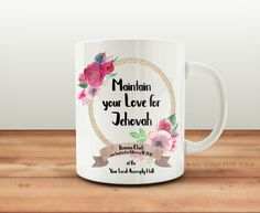 JW | Baptism Gift Keepsake Mug | Custom | Maintain your Love for Jehovah | Convention | Assembly | Present  | Jehovah's Witnesses 002 by AllThingsEverAfter on Etsy