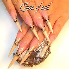 Stiletto nails, acrylic, unhas, naglar, nail art