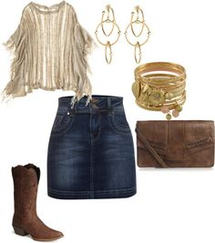 Cowgirl Chic, created by twodogsma on Polyvore