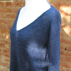 Pull tunique bleu nuit en baby alpaga