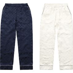 Supreme Louis Vuitton/Supreme Jacquard Silk Pajama Pant ❤ liked on Polyvore featuring intimates, sleepwear, pajamas, silk pyjamas, silk pj pants, silk sleepwear, silk pjs and silk sleep wear