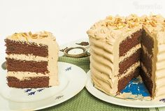 Čokoládová torta s krémom z Nutelly (videorecept) - recept   Varecha.sk Nutella, Tiramisu, Ethnic Recipes, Food, Essen, Meals, Tiramisu Cake, Yemek, Eten